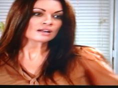 Spotted: Carla Connor Brown blouse