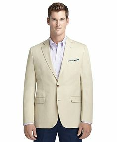 Fitzgerald Fit Cotton and Linen Sport Coat - Brooks Brothers