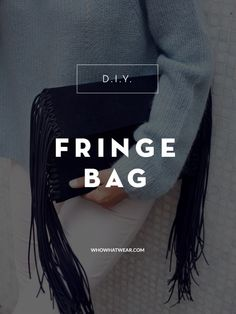 In case you haven't heard, fringe is all the rage this season. Hop on board with this stylish bag DIY!