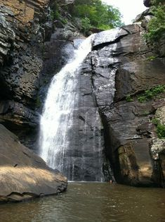 Trip Planner | Alabama Scenic River Trail - Yellow Creek Falls near Leesburg, less than half a mile's paddle from the Public Ramp five miles northwest of Leesburg on Highway 273. This 90-foot gash of white water falls off of the plateau of Shinbone Ridge into a swimming hole on Yellow Creek near its confluence with the Coosa River. Yellow Creek is the next creek entering the Coosa past Little River, which cuts through the large and famous canyon there.