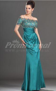 Sheath Column Off The Shoulder Short Sleeve Jade 100D Chiffon Long Prom  Dresses(PRBD04 a4eb4353f