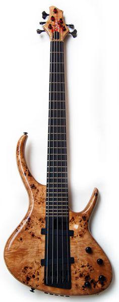 SHUKER Uberhorn Bass Poplar Burr 5 string
