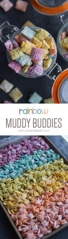 Rainbow Muddy Buddies