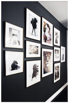 I LOVE the dark wall with the white.perfect for the wall across from the front., I LOVE the dark wall with the white.perfect for the wall across from the front. Family Pictures On Wall, Wall Photos, Framed Pictures, Wall Decor With Pictures, Pictures For Bedroom Walls, Displaying Photos On Wall, Hallway Pictures, Display Family Photos, Family Wall