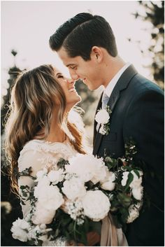 Adorable photo that captures all the happiness on a wedding day. Wedding photography | bride and groom | newlyweds