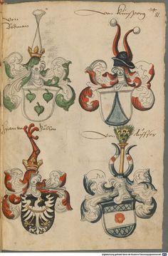 Wappen deutscher Geschlechter Augsburg ?, 4. Viertel 15. Jh. Cod.icon. 311  Folio 81r