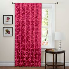Lillian Curtain Panel Pink 40-Inch by 84-Inch