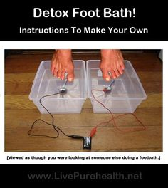 How To Make A Detox Foot Bath DIY! A detoxing foot bath to draw toxins out of the body through the feet. There are a number of commercial units you Health And Beauty Tips, Health And Wellness, Health Tips, Ionic Foot Detox, Body Detox, Belleza Natural, Alternative Health, Nutrition, Natural Medicine