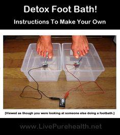 How To Make A Detox Foot Bath. A detoxing foot bath to draw toxins out