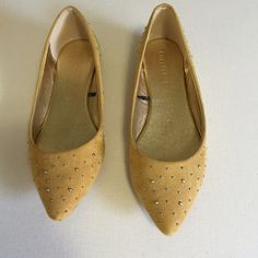 Forever 21 mustard flats Forever 21 mustard flats. Faux suede with stud details. Cute! Forever 21 Shoes Flats & Loafers