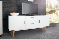 Milan Scandinavian Cabinet With Oak Legs Scandinavian Furniture, Retro Design, Credenza, Drawers, Storage, Moodboard, Home Decor, Interior Ideas, Scandinavian Design