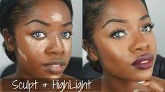 Makeup Tutorial: Sculpt & Highlight + Bold Lip - YouTube