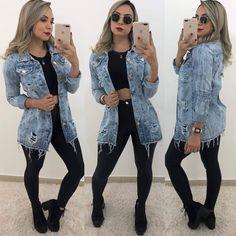 Maxi Jaqueta R$ 100,00 Fashion Jobs, Daily Fashion, Fashion Outfits, Womens Fashion, Basic Outfits, Stylish Outfits, Cute Outfits, Fall Winter Outfits, Clothes