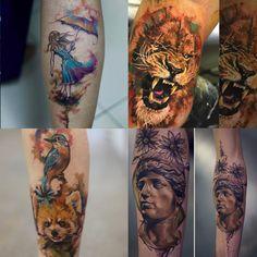 estúdio tattoo ink em São Paulo aquarela surrealismo Francisco Lim