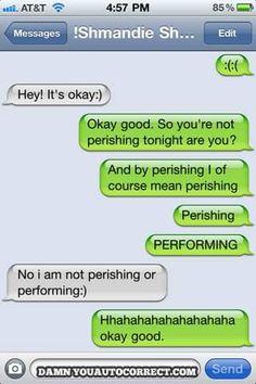 Performing is sometimes perishing..