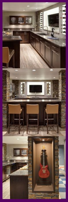 Though in reality, many tend to leave the basement unkempt. Instead of being specially-functioned, may be a good to change it become basement kitchen ideas. Small Basement Kitchen, Rustic Basement, Modern Basement, Kitchen On A Budget, Basement Ideas, Kitchen Ideas, California Pizza Kitchen, Kitchen Layout, Kitchen Design