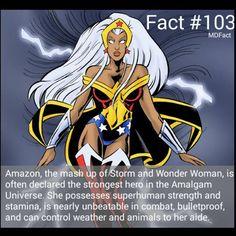 Storm+Wonder Woman= Amazon! Marvel Comic Universe, Comics Universe, Marvel Vs, Marvel Dc Comics, Marvel Cinematic Universe, Comic Book Characters, Comic Character, Comic Books, Marvel Facts