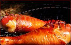 Smoked Turkey Legs on Traeger Grill Traeger Smoked Turkey, Smoked Turkey Legs, Traeger Recipes, Grilling Recipes, Meat Recipes, Party Recipes, Turkey Leg Recipes, Easy Chicken Recipes, Grilled Turkey Legs