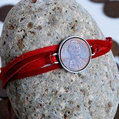Good Luck Wrap Bracelet Red design inspiration on Fab.