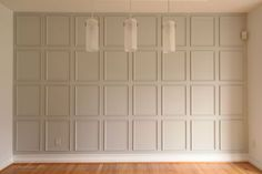 Small trim in squares add architectural interest to a focal wall. Small trim in squares add architectural interest to a focal wall. Girls Bedroom, Bedroom Wall, Garage Bedroom, Master Bedroom, Bedrooms, Wall Trim, Trim On Walls, Paneled Walls, Focal Wall