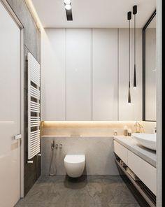 Wc Bathroom, Bathroom Toilets, Bathroom Design Small, White Bathroom, Bathroom Interior Design, Bad Inspiration, Bathroom Inspiration, Toilette Design, Glamorous Bathroom