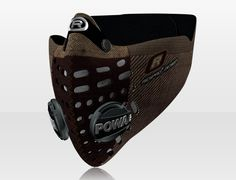 Respro® Skins™ pollution mask - HERRINGBONE Brown #matchyourstyle