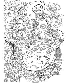 Halloween Grownup coloring guide PDF coloring pages digital coloring pages to alleviate stress coloration to loosen up Coloring Pages For Grown Ups, Fall Coloring Pages, Animal Coloring Pages, Coloring For Kids, Free Coloring, Coloring Books, Alphabet Coloring, Coloring Sheets, Printable Adult Coloring Pages