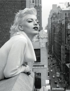 Teaser magazine, Marilyn Monroe story hair by Noah Hatton and color by Chiala Marvici for Cutler/Redken.