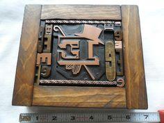 Old Letterpress Printing Type All Initial E Graphic Design Wood & Copper 14 E 's