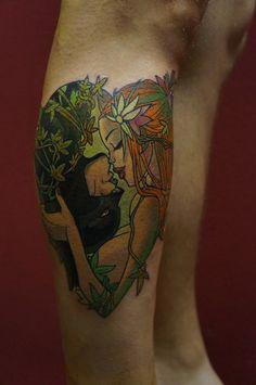 Lenoid Lebedev - Poison Ivy and Batman