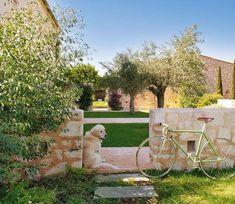 Vista de los patios del lado norte de la vivienda. Casa en Mallorca