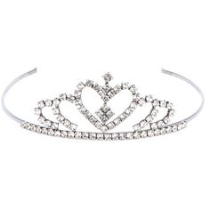 SAINT LAURENT Crystal Tiara Headband ($1,110) ❤ liked on Polyvore featuring accessories, hair accessories, crown headband, headband tiara, hair bands accessories, crystal tiara and crystal tiaras crowns