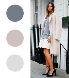 Photo credit: Fashion Vibe Comments (2)  Zina Charkoplia of Fashion Vibe  Gray + Ballet Pink + White
