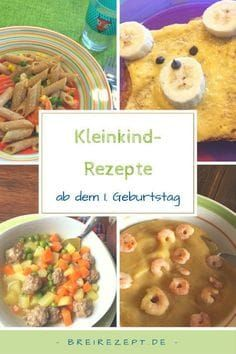 Kleinkinder Rezepte: gesunde Kindergerichte ab 1 Jahr Toddler recipes for children from 1 year old. The so-called family food begins from the month and the baby eats with the family as normal. Toddler Meals, Kids Meals, Toddler Recipes, Children Recipes, Raw Food Recipes, Healthy Recipes, Lunch Boxe, Baby Eating, Food Combining
