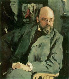 Valentin Serov (1865 –  1911) -  Portrait of the Artist I.S. Ostroukhov, 1902