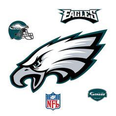 Fathead 35 in. H x 50 in. W Philadelphia Eagles Logo Wall Mural