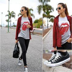 Outfit básico para una mujer urbana con los cuadros y estampados que están en tendencia