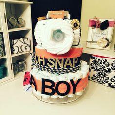 Camera diaper cake …