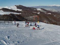 The local ski team EOS NAOUSAS,training at 3 5 pigadia,Naousa.Greece.