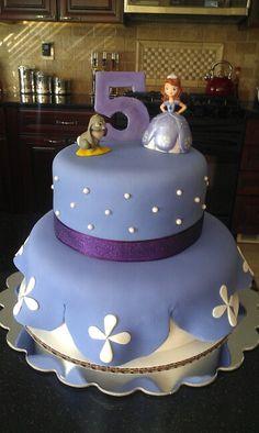 Princess Sofia Cake! Sofia the First Cake...