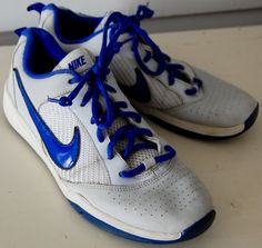 Kids NIKE QUICK BALLER Basketball Sneakers Shoes Boys Girls 6Y Low GRAY Blue  #Nike #Athletic