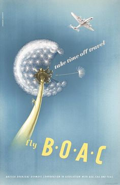 Fly BOAC - Take time off travel - 1948 - (Norman Weaver) -