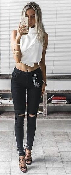 #summer #trending #outfitideas | Black and White