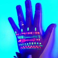 Glow-in the dark body paint.