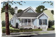 house plan GAR-74002 front elevation