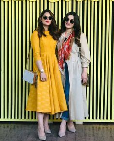 Beautiful Aiman Khan Minal and Muneeb Butt at an Event Pakistani Fashion Casual, Pakistani Dresses Casual, Pakistani Dress Design, Stylish Dresses For Girls, Simple Dresses, Casual Dresses, Trendy Outfits, Beautiful Pakistani Dresses, Beautiful Dresses