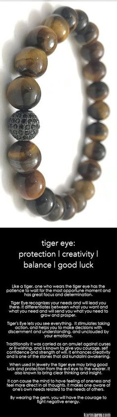 Tiger's Eye lets you see everything. It stimulates taking action and making wise decisions. Traditionally, it is used to ward off curses or ill-wishing, and is known to give you courage, self confidence and strength of will. #tiger #eye #Tigers #Love #Beaded #Bracelet #Yoga #Chakra #Mala #Stretch #Meditation #handmade #Jewelry #Energy #Healing #gratitude #gifts #Crystals #Stacks #pulseiras #Bijoux #Handmade #Reiki #Mala #Buddhist #Charm #Mens #Womens #Her #Him….#