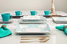 O prato quadrado une ousadia, irreverência e sofisticação.