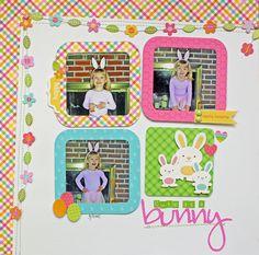 Cute as a Bunny - Scrapbook.com  Done with the Doodlebug Design Springtime Collection.