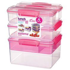 Love my pink Sistema containers My Kitchen Pinterest Lunches
